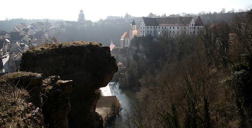 Haigerloch: Blick auf Schloß und Oberstadt