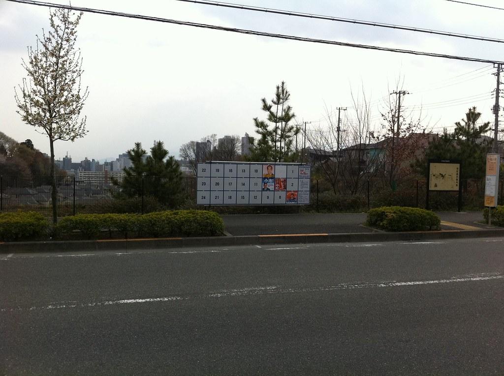 この界隈、石原氏のポスターだけ破られている。悔しくてしょうがない人が徘徊していたらしいwww #tochiji #senkyo