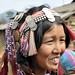 Small photo of Femme Akha avec sa coiffe, Nord Laos