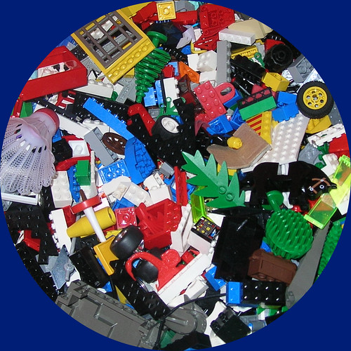 huge tub of legos