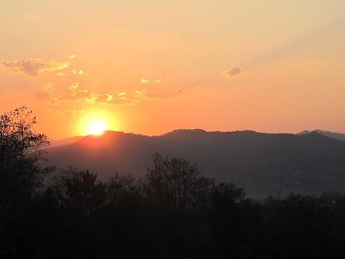 world sunset sun asia 2011 dhulikhel