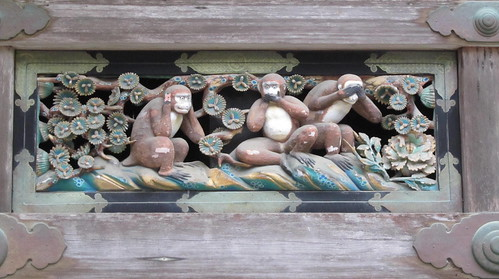 Nikko's famous monkeys