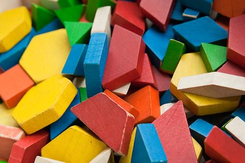 Colorful Wooden Blocks Children's Museum Macro April 17, 20114