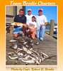 BILOXI MISSISSIPPI CHARTER BOAT FISHING - Ken, Blake, Dillon, and Haleigh Lewis with redfish, black drum, white trout, and ground mullet - Photo by Capt. Robert L. Brodie by teambrodiecharters
