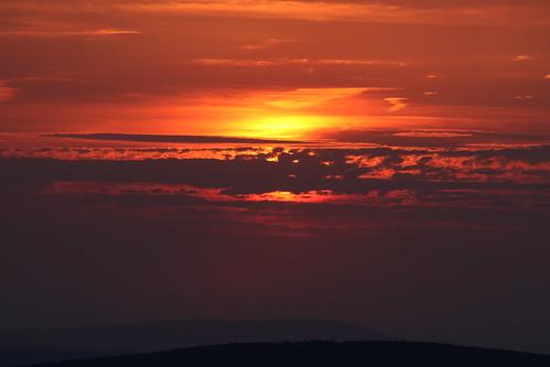 Sunset at Szekrényes-hill