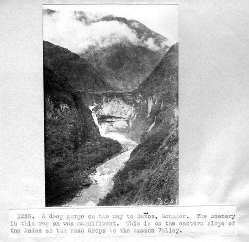 Gorge near Baños, Ecuador.