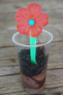 Flower pudding spoons