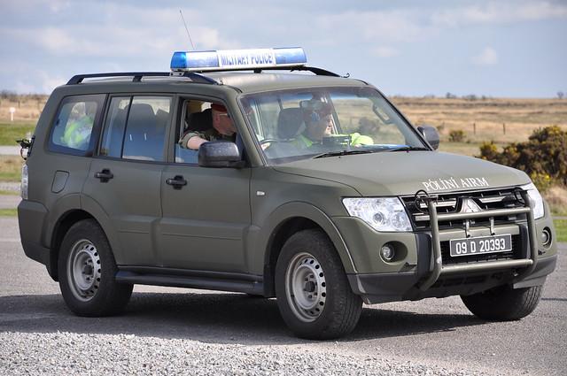 Irish Defence Forces Military Police Mitsubishi Pajero 4X4