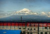 Mount Fuji passing by on the Shinkansen