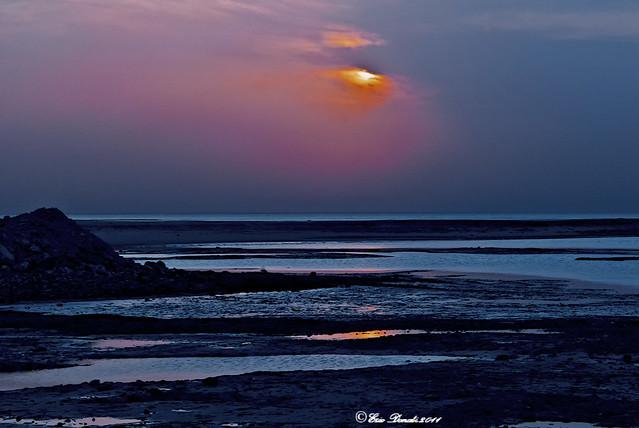 DAL DESERTO :   L' ALBA SUL MARE        -----      FROM THE DESERT  :  THE SUNRISE  ON THE SEA
