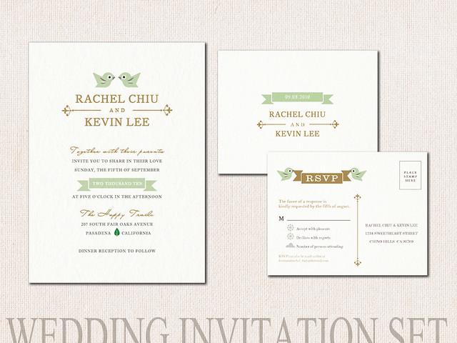 Love Bird Wedding invitation by TheSillyLab