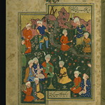 Poem (masnavi), A festive party with a hunter and his young friends, Walters Manuscript W.656, fol. 48a