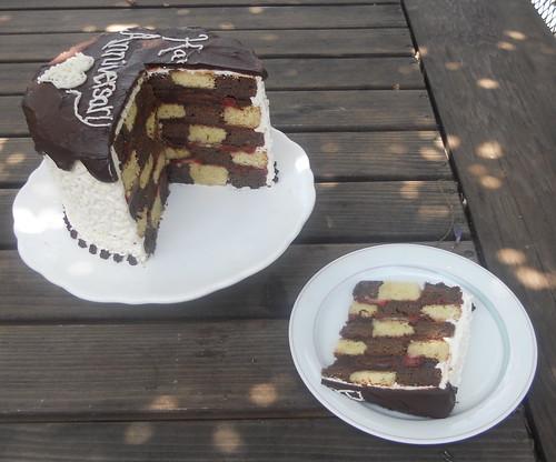 Checkerboard Anniversary Cake