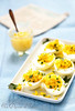 Oeufs mimosa - deviled eggs