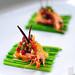 cocktail shrimp serve with vege in olive oil and boiled asparagus by Farhanjamil [ is back!!~~]