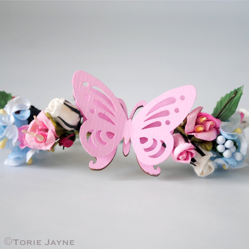 Hand-made Pink Butterfly Napkin Holder
