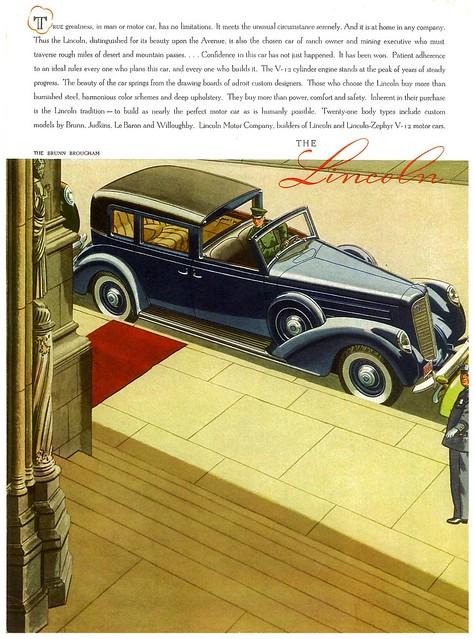 1938 Lincoln V-12 Brunn Brougham