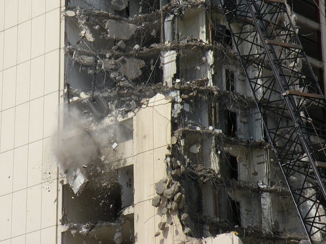 High Rise Demolition : Cabrini green high rise demolition a large piece of the