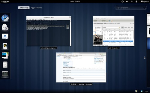 Gnome 3.0 On ArchLinux