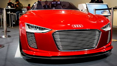 automobile, automotive exterior, audi, exhibition, vehicle, performance car, automotive design, auto show, audi e-tron, bumper, concept car, land vehicle, luxury vehicle, sports car,