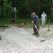 Fri, 05/01/2009 - 01:14 - In May 2009 we recognized a persistent drainage problem at the Fayetteville Road Trailhead in Durham. We installed a 10' drain just above the connector trail leading down to the ATT.