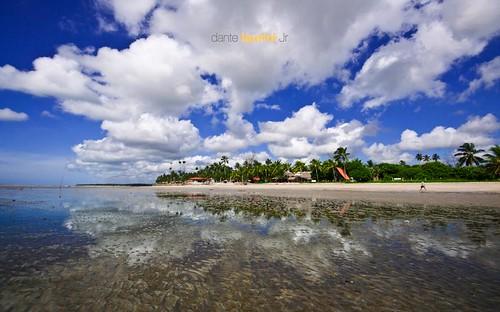 ocean blue sunset brazil sky reflection praia beach brasil sunrise mar nikon mare tide low baixa nuvem reflexo ilha pernambuco maragogi alagoas peroba sigma1020 dantelaurinijr alagoass
