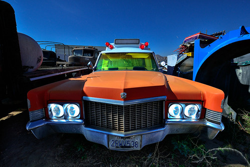 cadillac ambulance. mojave desert, ca. 2011.