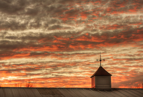 sunset weather clouds barn sunrise day cloudy