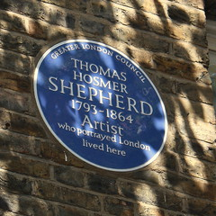 Photo of Thomas Hosmer Shepherd blue plaque