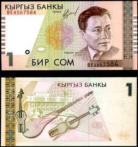 1 Som Kirgizsko 1999, P15