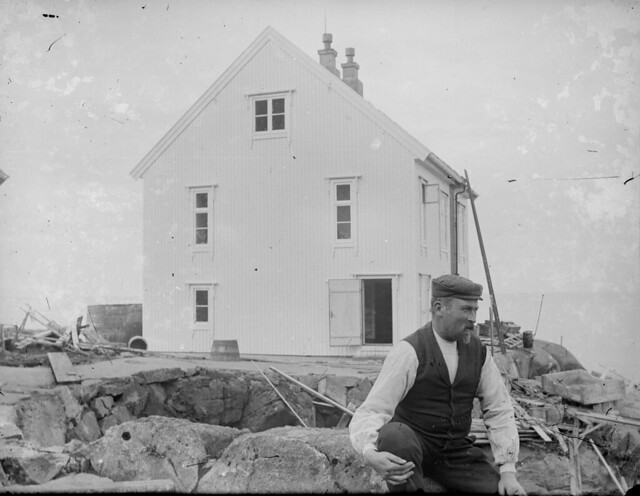 Lighthouse worker Anders Folkestadås at Kråkenes lighthouse