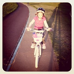 miss seven riding while I run!