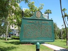 Tampa Bay Hotel Marker Tampa FL