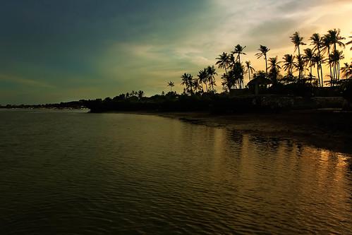 sunset sun beach nature night view philippines resort explore palmtrees hut views cebu hdr cordova photomatix explored cebusugbo pwpartlycloudy
