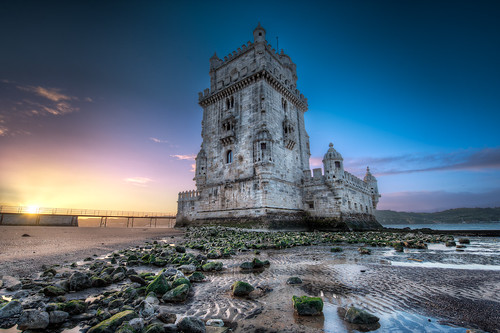 Belem Tower At Sunrise - (HDR Lisbon, Portugal)
