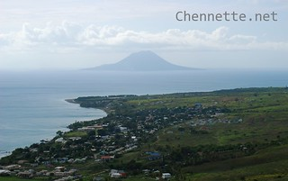View of St Eustatius from St Kitts