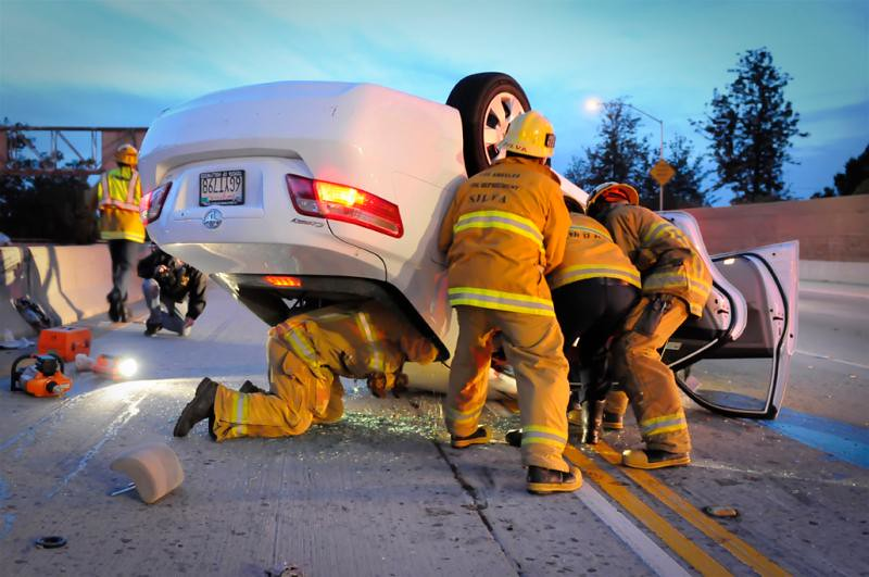 Firefighters Extricate Trapped Victim
