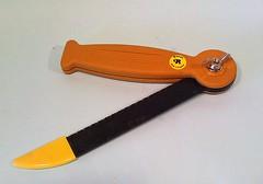 orange, yellow, weapon, tool, knife, blade, utility knife,
