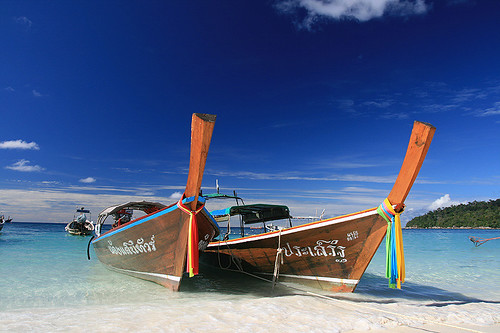 Longtail boats in Koh Lipe / Thailand
