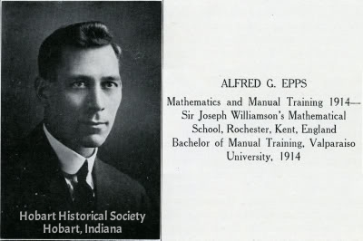 Alfred G. Epps, from 1917 Hobart High School yearbook.