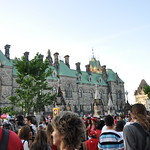 canada day crowds - east block of parliament