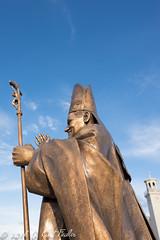 Bronze Pope in the Sky