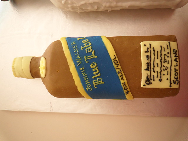 Johnnie Walker Blue Label Cake http://www.flickr.com/photos/cakecountess/5548367203/