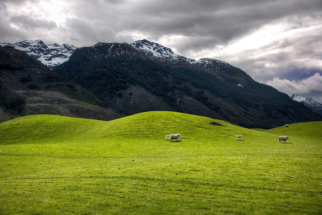 The Soft Hills on the way to Paradise, New Zealand