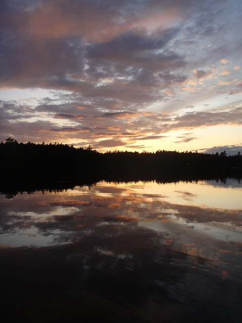 Sunset on a Maine Pond