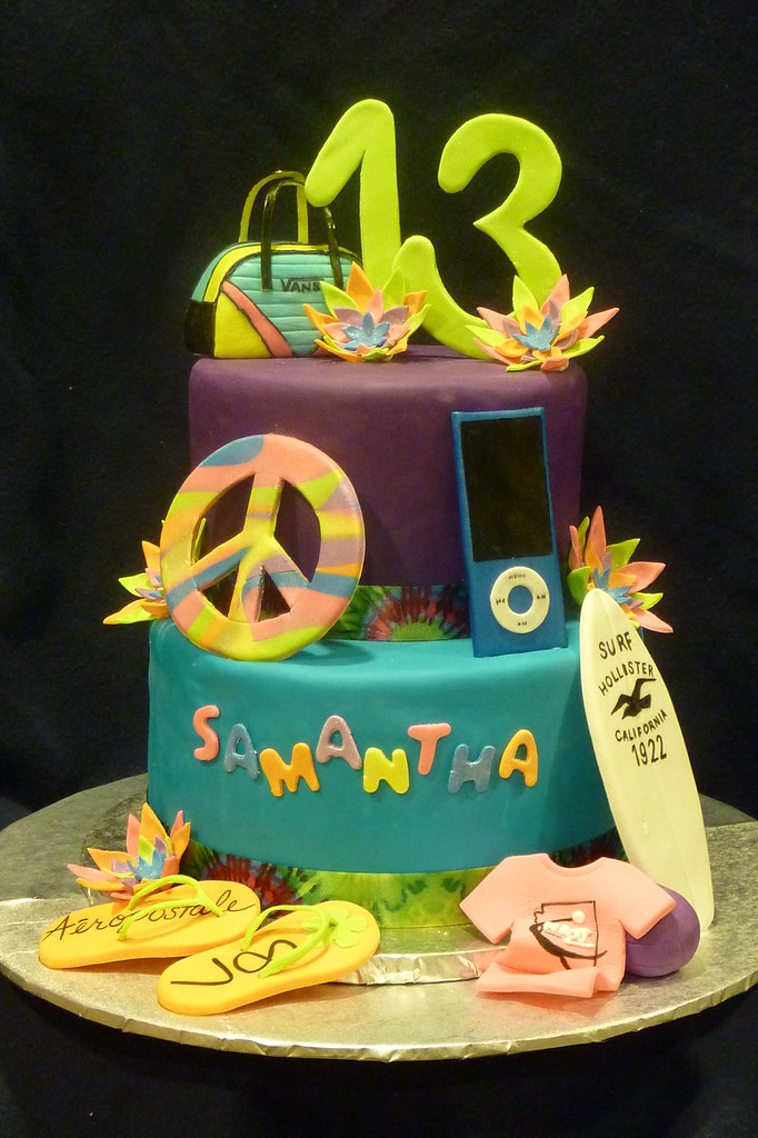 Samanthas 13th Birthday Cake