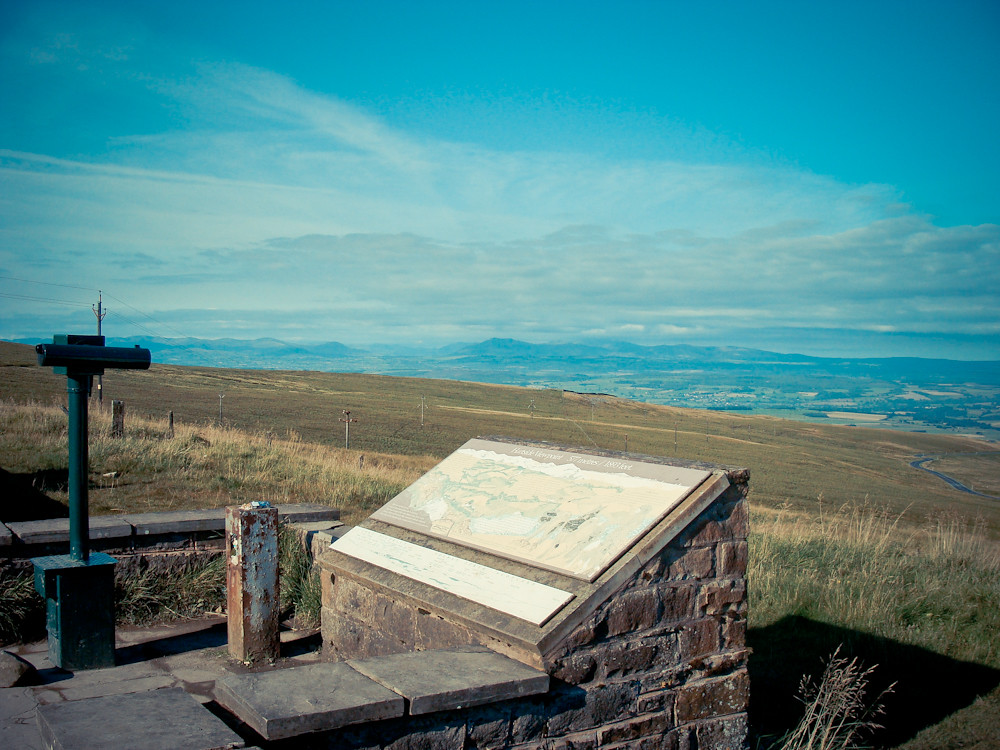 Viewpoint and Road down from Hartside Pass