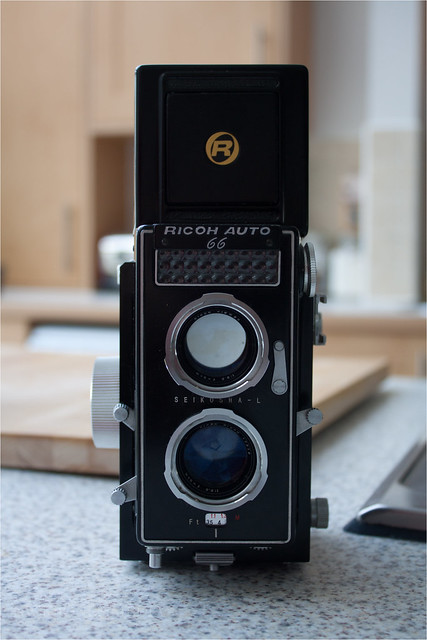 Ricoh Auto 66 - front with hood up