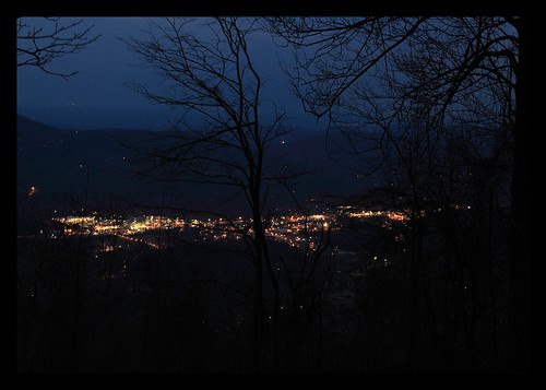 travel night georgia dusk valley citylights blackrockmountainstatepark rabuncounty claytongeorgia