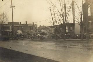 Main and Vine Streets, Dayton, OH - 1913 Flood